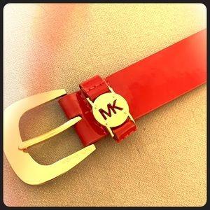 Michael Kors red belt size S